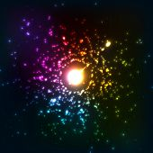 Colorful vector cosmic explosion