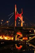 BILBAO, SPAIN - NOVEMBER 14: Principes de Espana Bridge in the evening on November 14, 2012 in Bilba