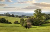 stock photo of hamlet  - Pretty view near the Cotswolds hamlet of Hailes - JPG