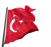 Waving In Wind Flag Of Turkey