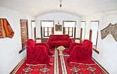 GJIROKASTER, ALBANIA-JUNE 7, 2014 : Inside traditional Albanian house on June 7,2014 in Gjirokaster