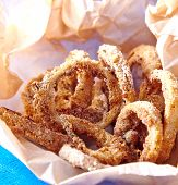 Baked onions rings
