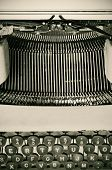 closeup of an ancient typewriter
