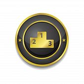Score Board Circular Vector Golden Black Web Icon Button