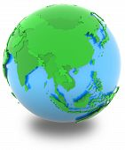 Asia On The Globe