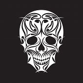 Abstract Scull Vector Illustration