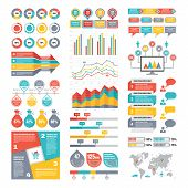 Infographic Elements Collection - Business Vector Illustration in flat design style