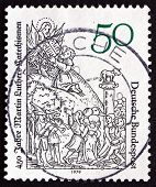 Postage Stamp Germany 1979 Moses Receiving Tablets Of The Law