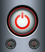 Power button background, vector illustration.