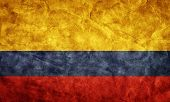 Colombia grunge flag. Vintage, retro style. High resolution, hd quality. Item from my grunge flags c