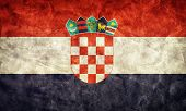 Croatia grunge flag. Vintage, retro style. High resolution, hd quality. Item from my grunge flags co