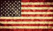 USA grunge flag. Vintage, retro style. High resolution, hd quality. Item from my grunge flags collec
