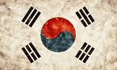 South Korea grunge flag. Vintage, retro style. High resolution, hd quality. Item from my grunge flags collection.