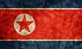 North Korea grunge flag. Vintage, retro style. High resolution, hd quality. Item from my grunge flag