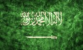 stock photo of saudi arabia  - Saudi Arabia grunge flag - JPG