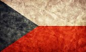 Czech Republic grunge flag. Vintage, retro style. High resolution, hd quality. Item from my grunge flags collection.