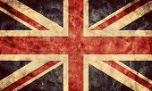 The United Kingdom or Union Jack grunge flag. Vintage, retro style. High resolution, hd quality. Ite