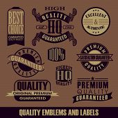 Label Vintage vector