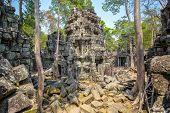 Ancient Ta Prohm temple at Angkor Wat complex, Siem Reap, Cambodia