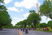 Rolling Thunder motobike rally in Washington DC