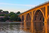 Key Bridge at sunset.