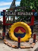 Sign at Sipadan Island, Sabah, Malaysia