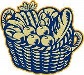 Crop Harvest Basket Retro