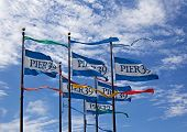 Pier 39 Flags In San Francisco