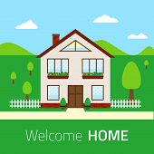 Flat Welcome Home Illustration