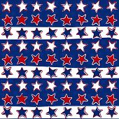 three color stars in rows patriotic pattern on dark blue