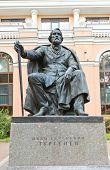 Sculpture Of Ivan Turgenev In Saint Petersburg, Russia