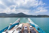 Rat, Thailand - October 25 : Tourists From Koh Chang Go Ashore At Ferry Boat Quay On October, 2013