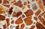 stock photo of brownstone  - Wall messy brownstones - JPG