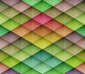 Abstract colorful mosaic seamless vector background. Graphic pattern with rhombus elements. Vector seamless illustration
