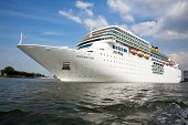 AMSTERDAM, NETHERLANDS -JULY 7: Costa Romantica in Amsterdam port. Sister ship to the Costa Concordi