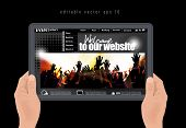 web design template, vector