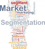 foto of homogeneous  - Background concept wordcloud illustration of business market segmentation - JPG