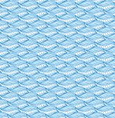 Seamless Pattern With Frequent Waves