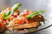 Close-up Tomatoe Bruschetta