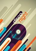 Abstract disco night poster design. Vector illustration.
