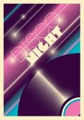 Abstract disco night poster. Vector illustration.