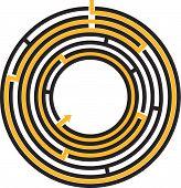 circular maze - editable