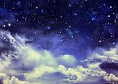 background of the night sky