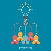 Brainstorm And Teamwork Business Man Concept,vector
