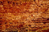 Texture Of The Old Wall Of Red Brick