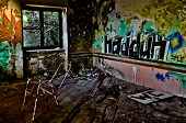 Abandoned and Ruined Hotel Room
