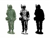 Plastic toy Soldier vector