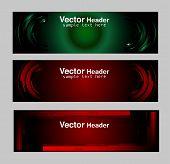 Set of modern vector banners