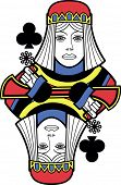 Stylized Queen of Clubs without card version