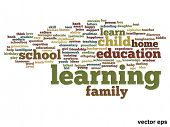 Vector concept or conceptual education abstract word cloud on white background
